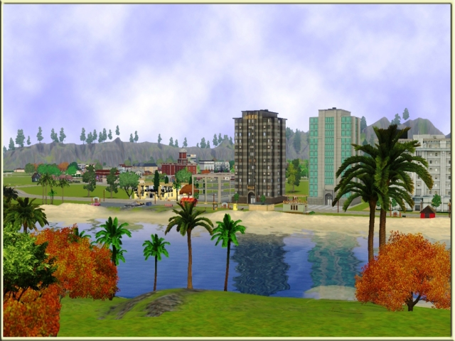 02 - Town seen from island
